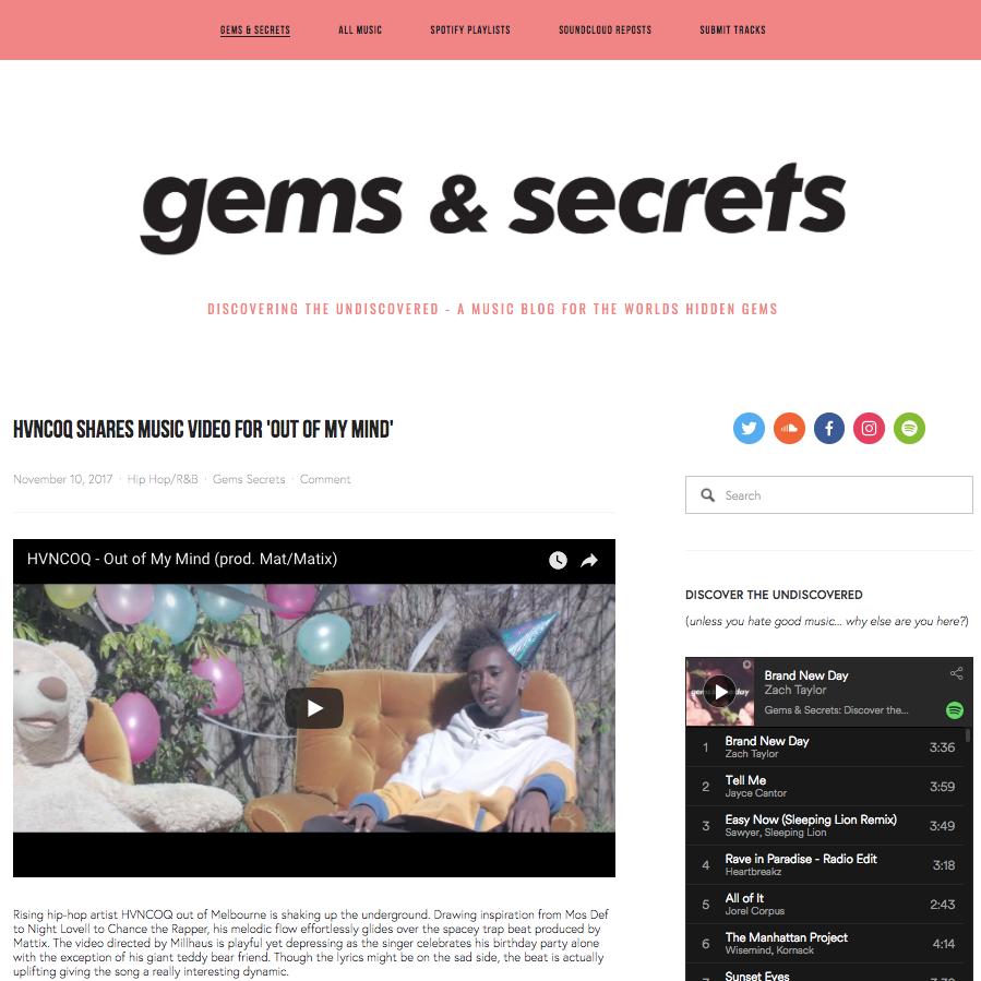 Gems & Secrets: Hip Hop/RNB - November 10th 2017