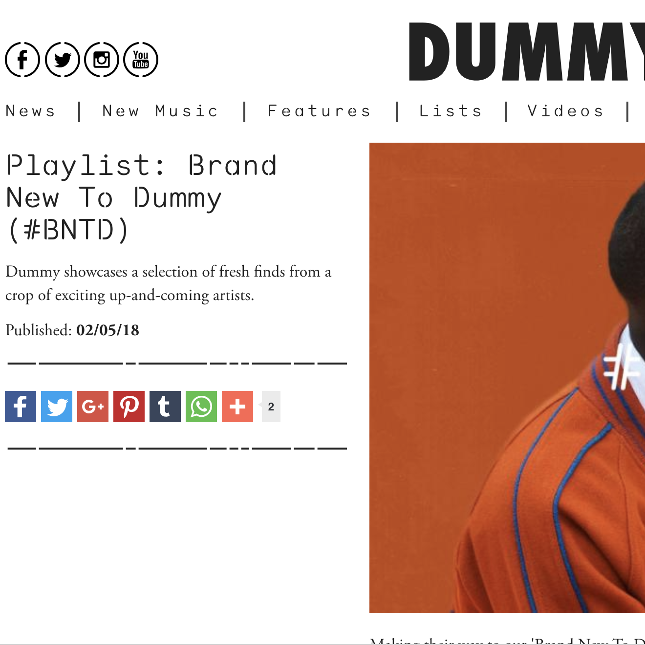 Dummy - May 1st 2018