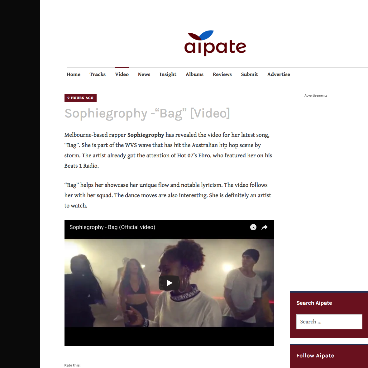 Aipate - May 16th 2018
