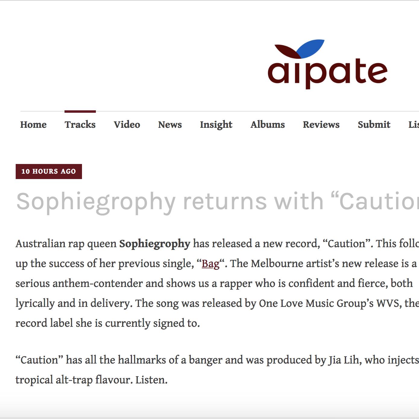 Aipate - September 4th 2018