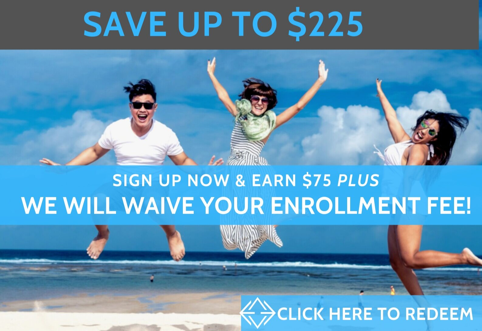 ENROLL TODAY AND START ELEVATING YOUR HEALTH! FOR NEW MEMBERS, RECEIVE $75 AND WAIVED ENROLLMENT (A SAVINGS OF UP TO $225)   IF YOU SIGN UP BETWEEN NOW AND 12/31/19.   Elevated Health gift card credit of $75 valid 1 per household. Can only be redeemed once. Not valid for dependent & college student memberships. Questions? Contact us at    hello@elevatedhealth.md   .