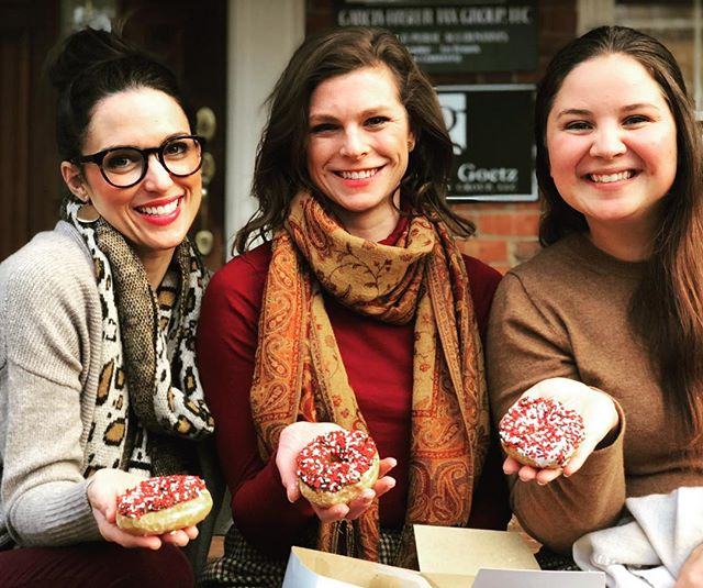 Our eyes were heavy, and our heads were hanging a little low today, but E+G is incredibly proud of our beloved Dawgs! Celebrating an unforgettable season with red and black sprinkle donuts. Go Dawgs! #godawgs #ugafootball #uga