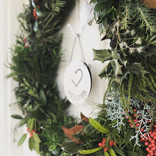 It's wreath-hanging season, + we think we might just win the contest for having the prettiest one. ❤️ Thanks @lottamaessupplyco