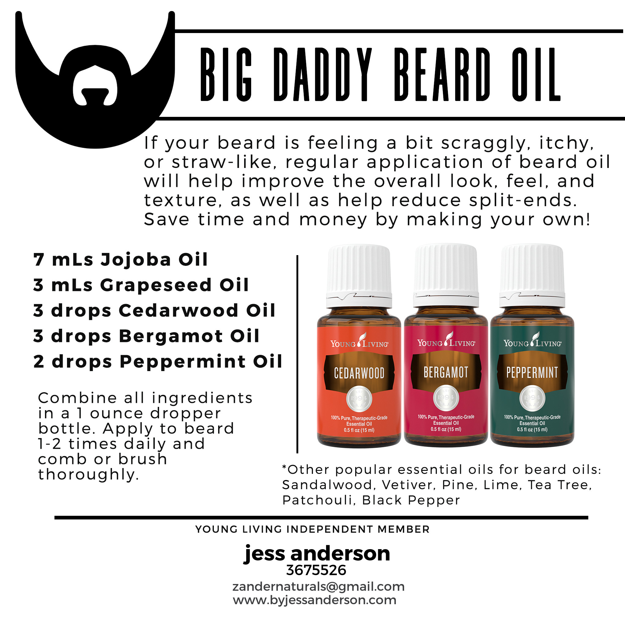 Young Living Essential Oils for Beards