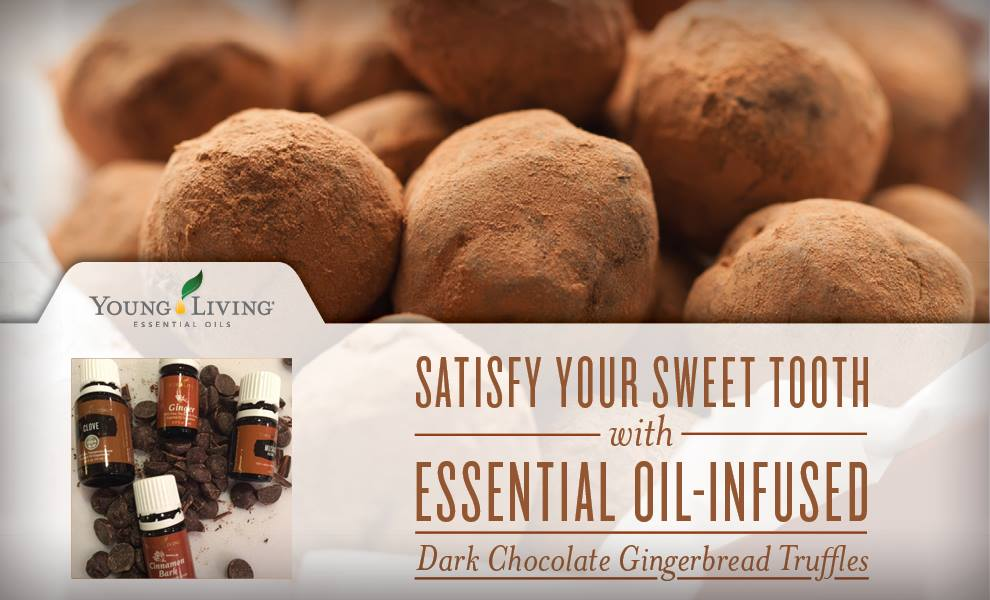 Essential Oil-Infused Dark Chocolate Gingerbread Truffles using Young Living essential oils