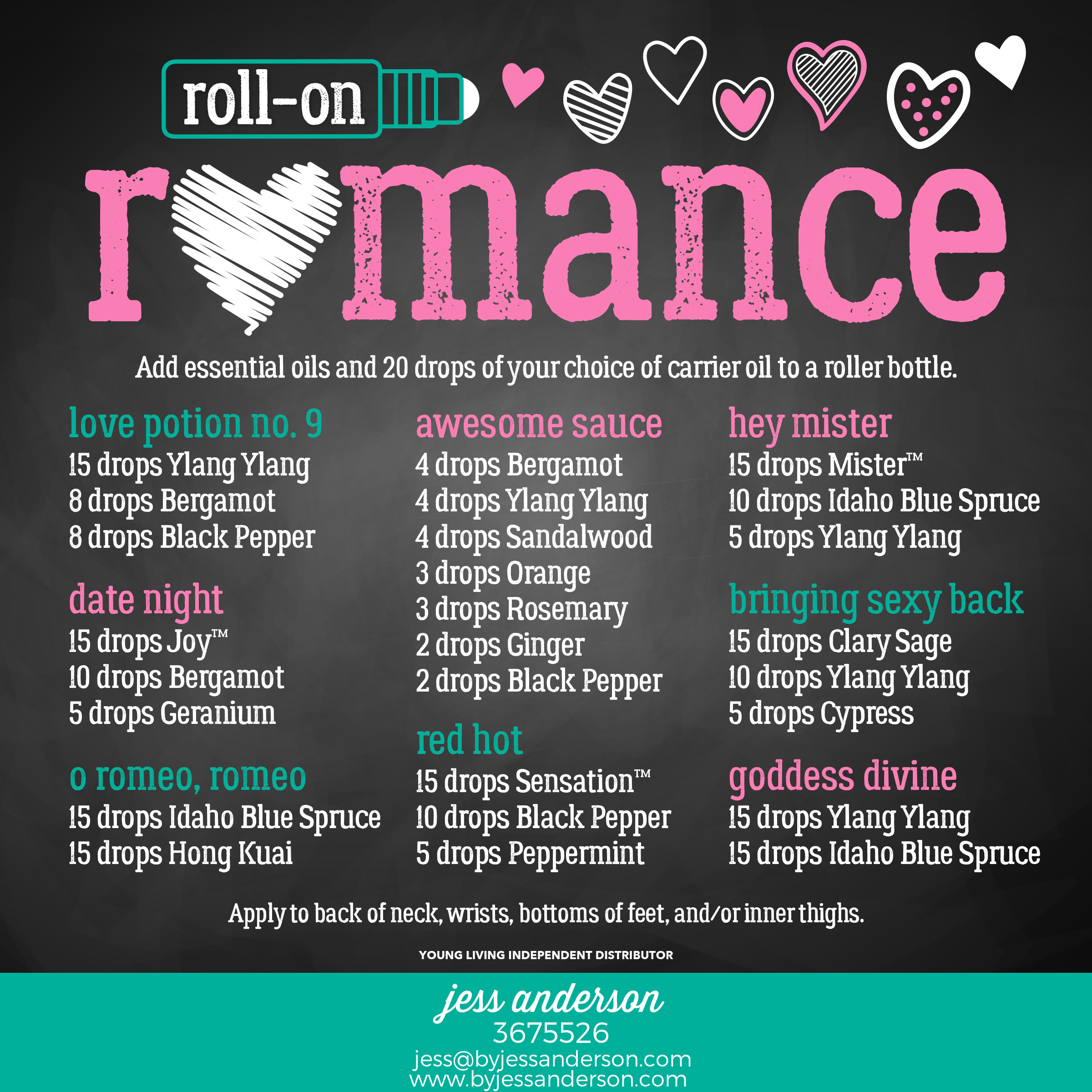Roll on Romance - Roll on recipes using Young Living essential oils