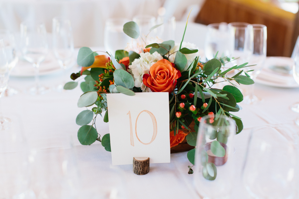nick+christine   JULY 2018  Watercolor/script seating chart and table signage.  PHOTOGRAPHER:  SHELBY BRAKKEN   VENUE:  MT. HOOD ORGANIC FARMS