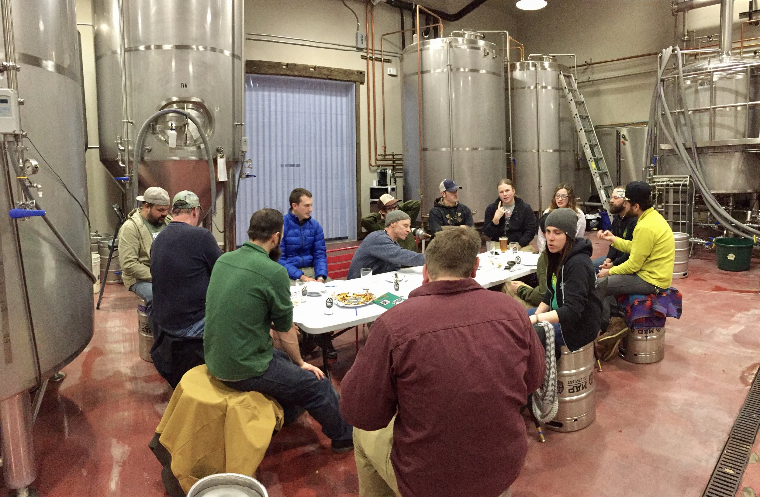 Representatives from every brewery in Bozeman and Belgrade gathered at MAP Brewing to plan their collaboration beers.