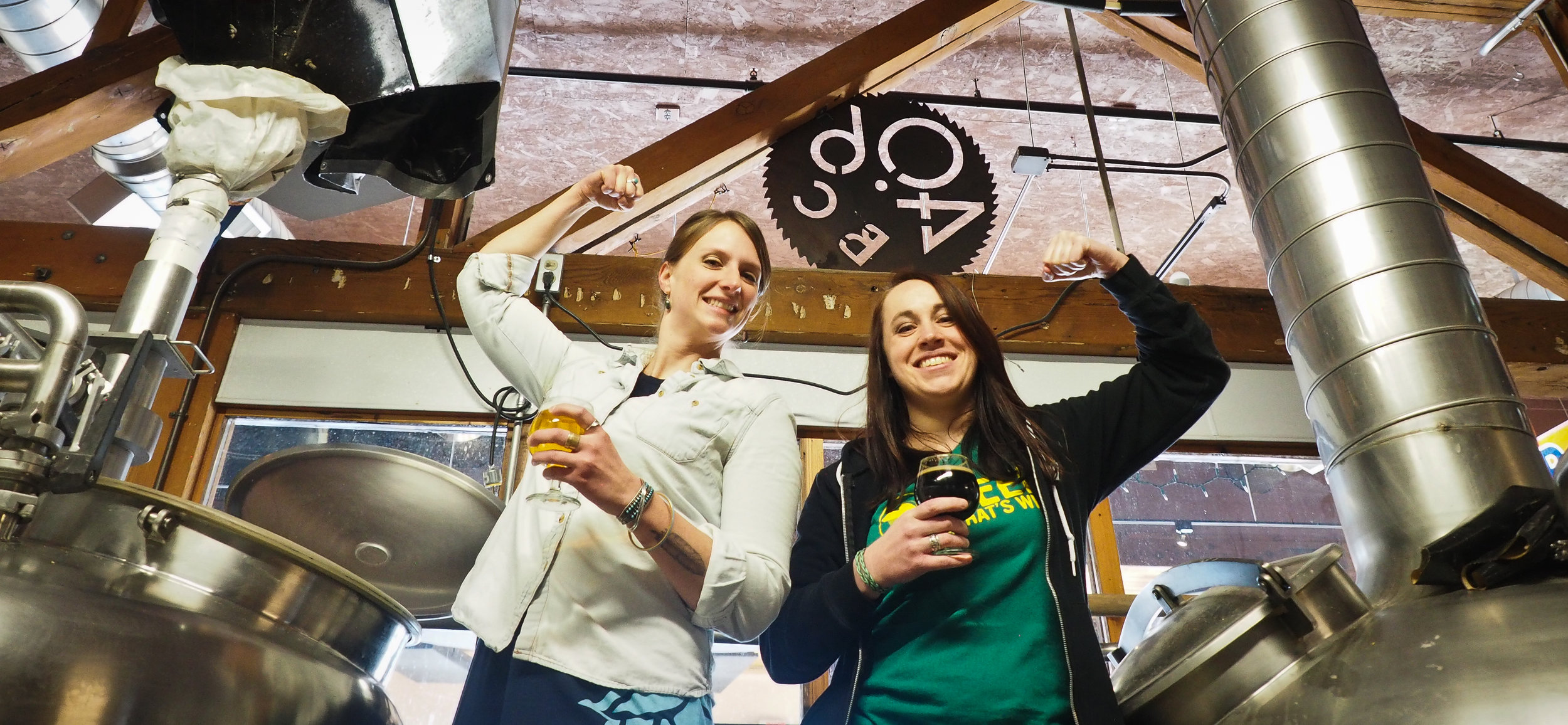 We're the women behind Bozeman Craft Beer Week! Pictured: Loy Maierhauser (left), Jesse Bussard (right)