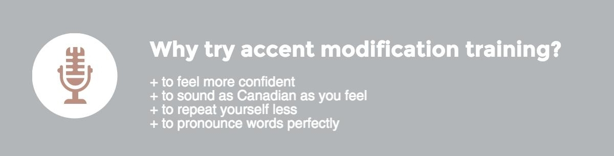 Why try accent modification training?