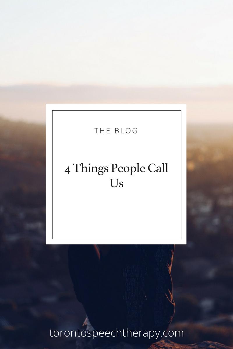 4 Things People Call Speech-Language Pathologists (speech therapists)