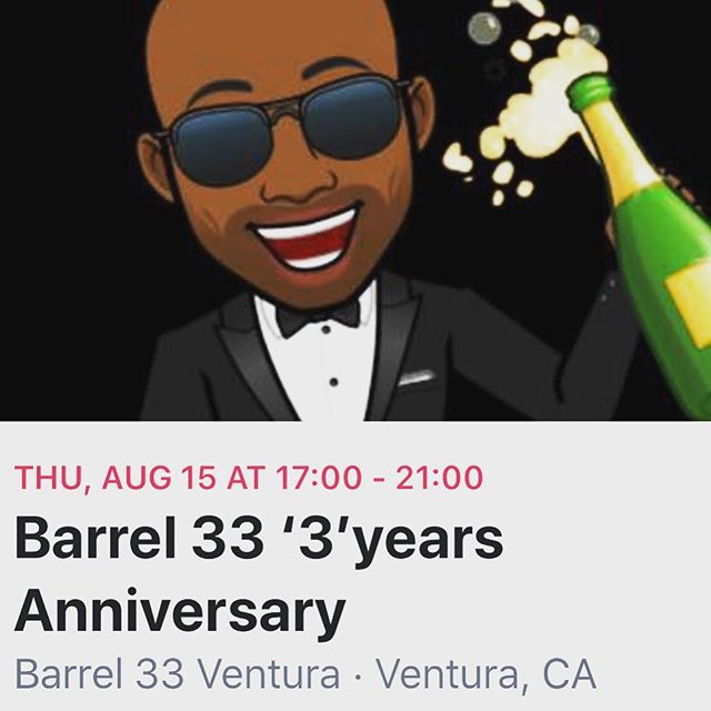Happy Anniversary Barrel 33!!! Thank you all supporting local business 🙌🏾🙌🏾🙌🏾