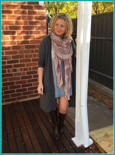 Short dress and scarf May 2015
