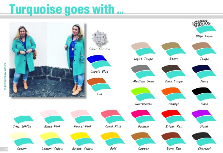 Best colours that go with turquoise.    Want the complete ebook of colour?  Click here to get your copy of The Real Hue .