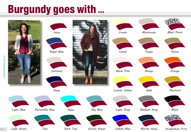 Best colours that go with burgundy   Want the complete ebook of colour?  Click here to get your copy of The Real Hue .