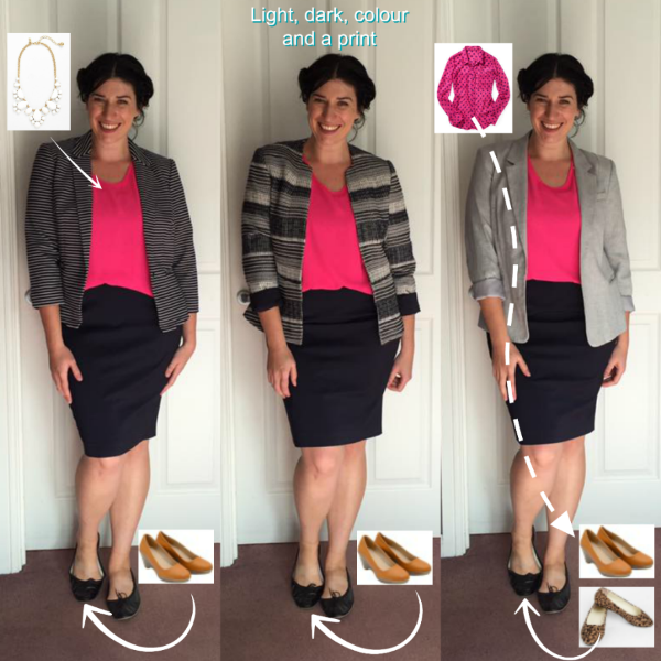 Office Wardrobe Elements Bright Pink Top and Blazer.png