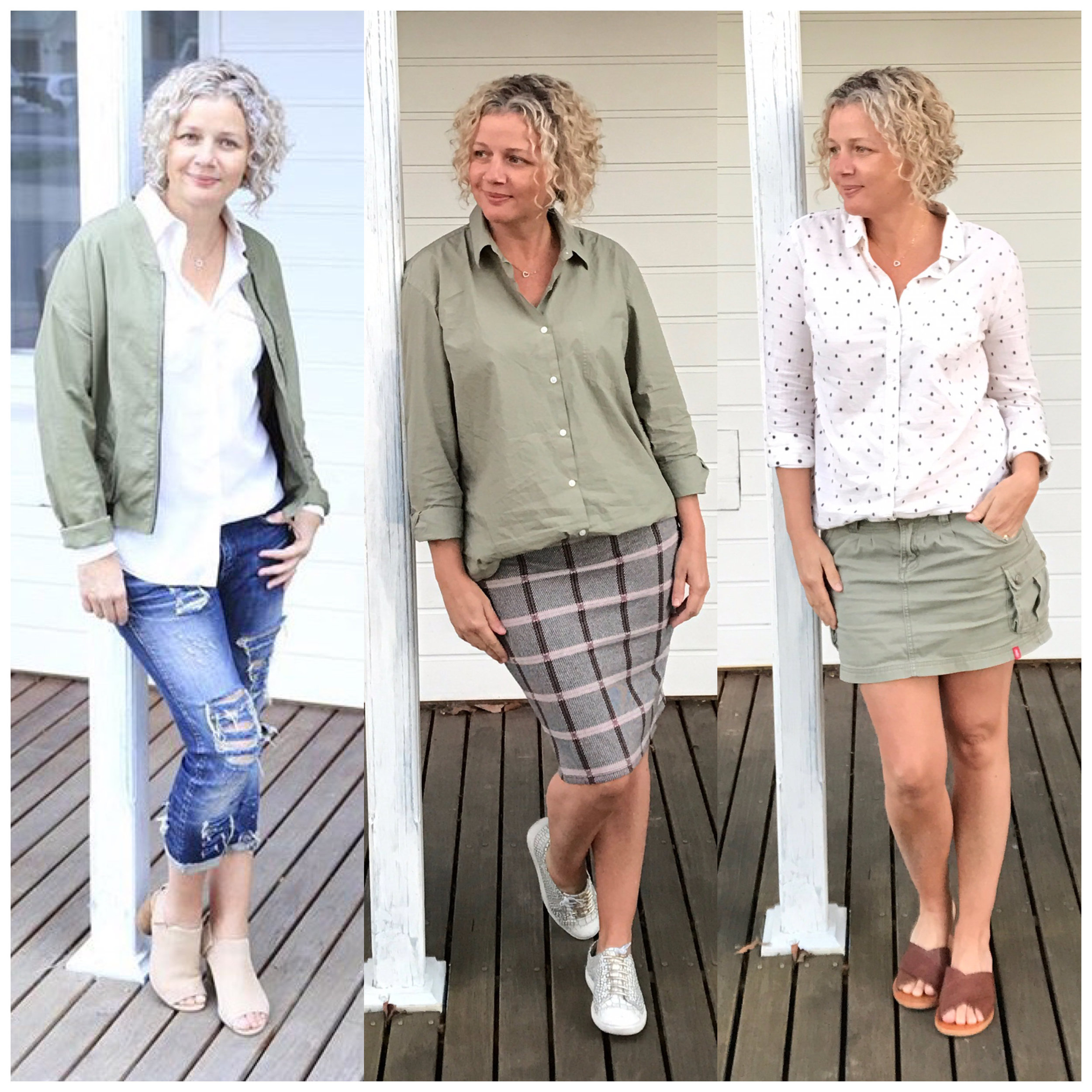 wearing muted dirty greens with skirt and jeans.jpg
