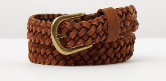 Warm Tan A detailed belt acts like a print.