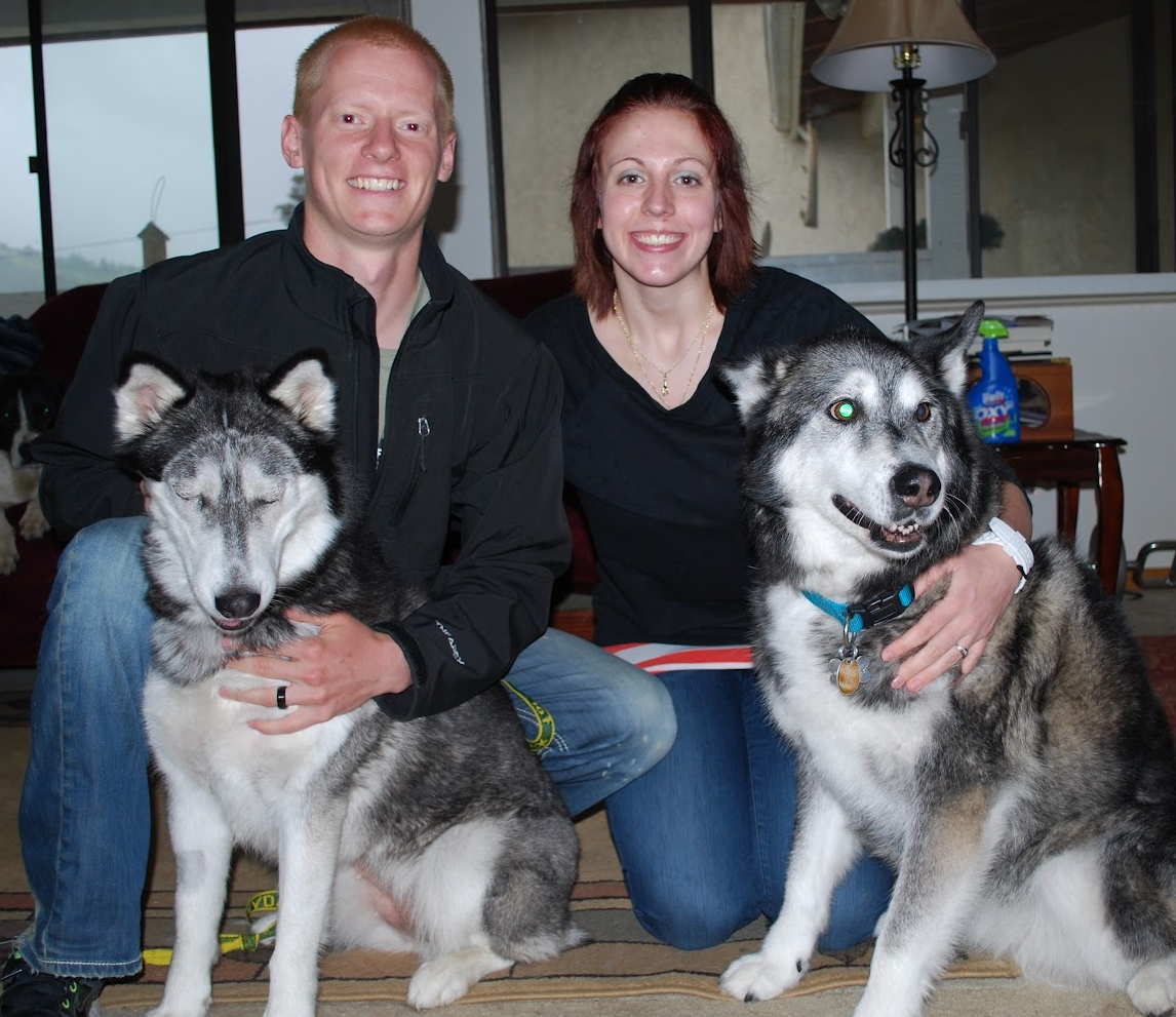 Shadow with her new family.