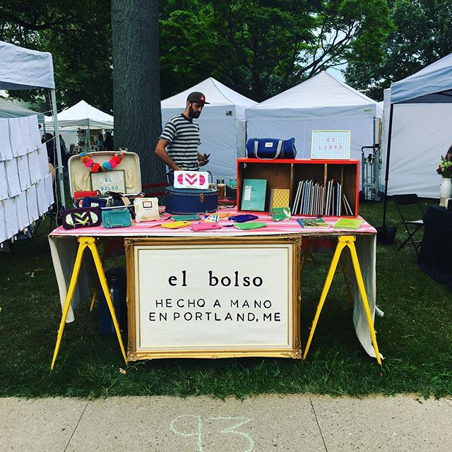 Thank you @picnicportland for the awesome day yesterday! Can't wait for next time 💚 #portlandmaine #makersmarket #picnicportland