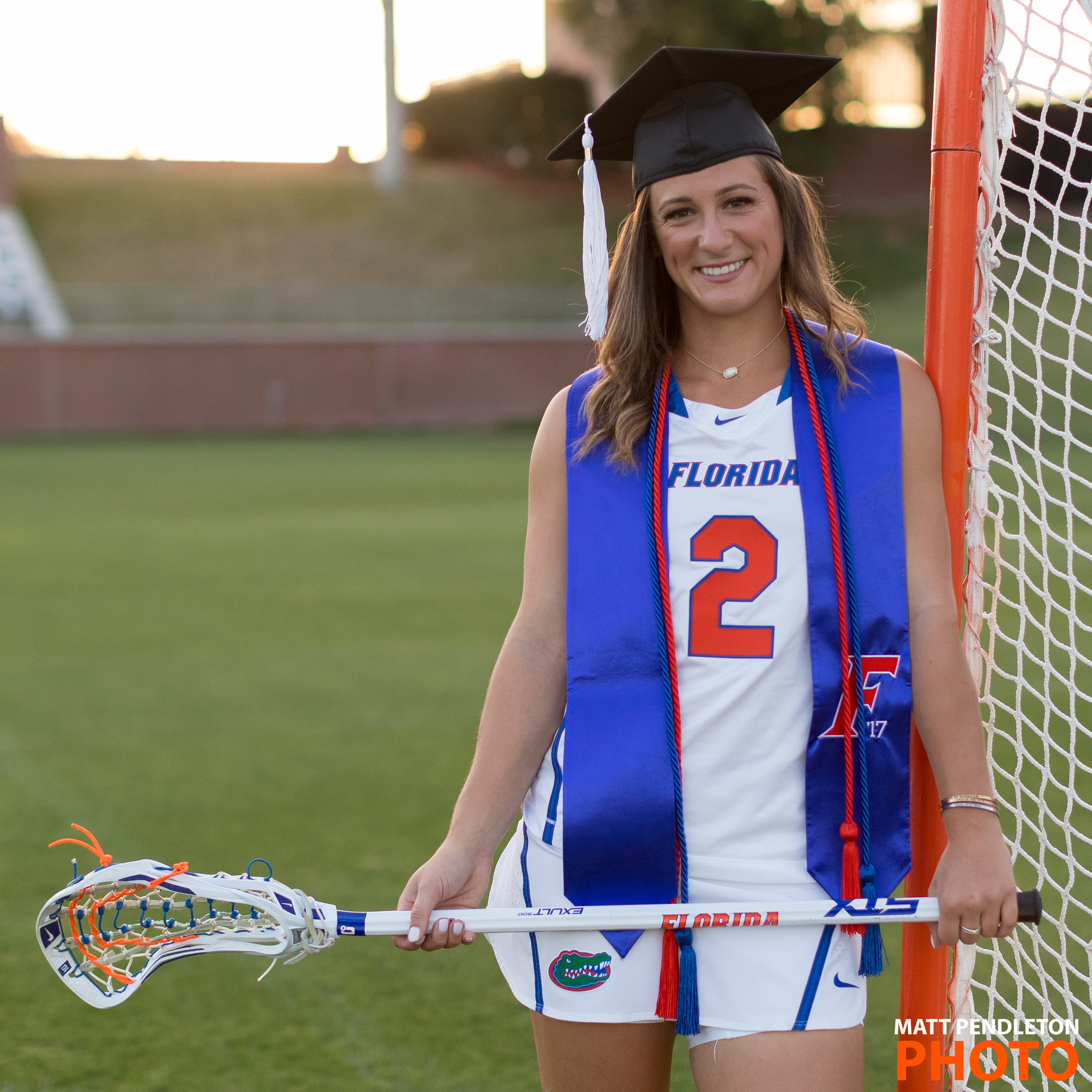 Grad photo session featuring Sammi Burgess on Wednesday, April 26, 2017 at Donald R. Dizney Stadium in Gainesville, FL / Photo by Matt Pendleton for Matt Pendleton Photography (mattpendleton.com)