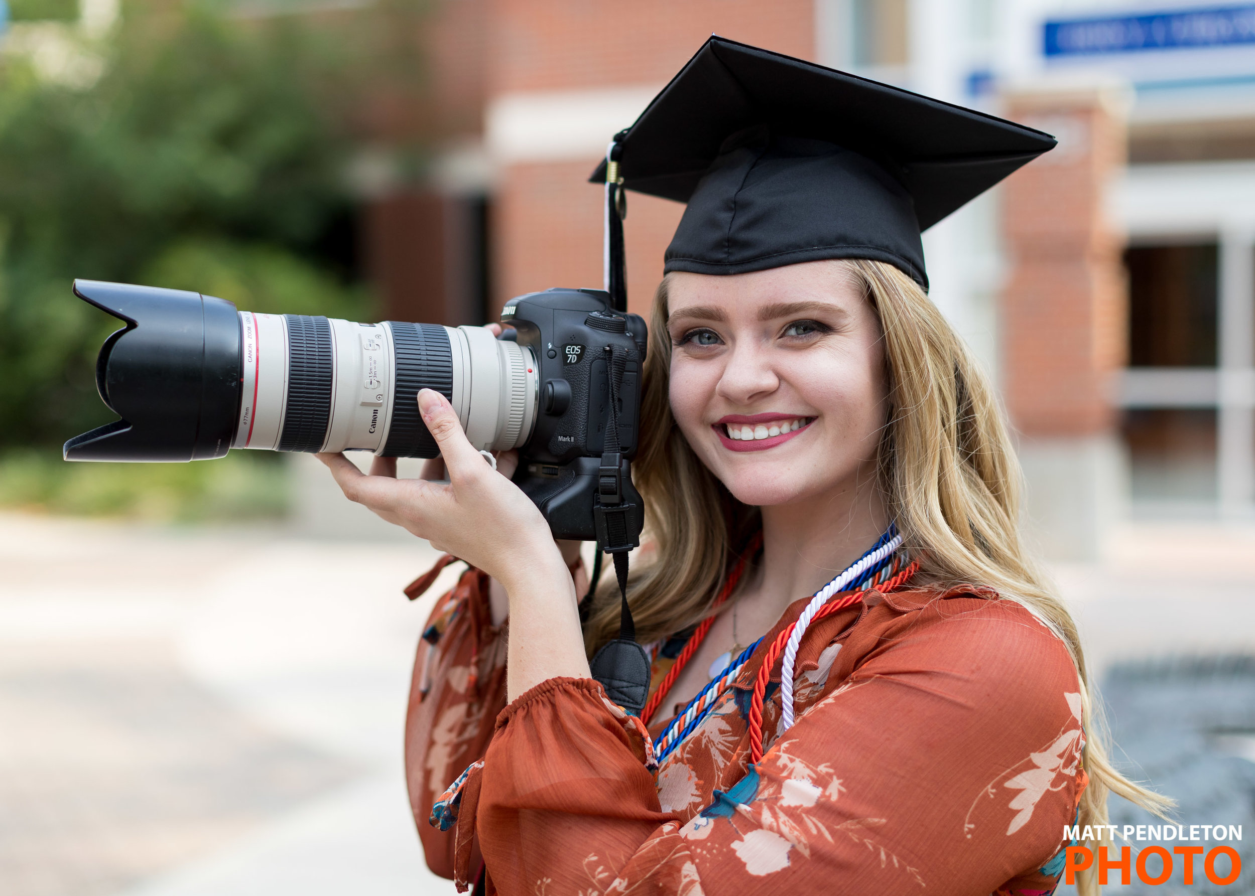 Grad photo session featuring Courtney Culbreath on Thursday, April 27, 2017 at Ben Hill Griffin Stadium in Gainesville, FL / Photo by Matt Pendleton for Matt Pendleton Photography (mattpendleton.com)