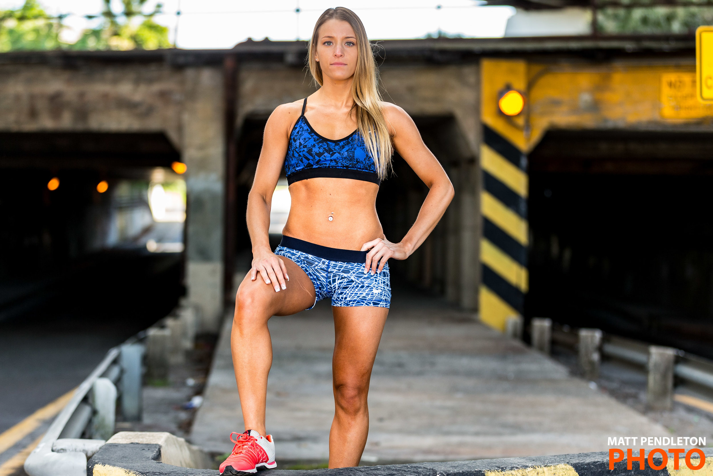 Scenes from the Fitness Photo Session with Nikki Steinberger on Sunday, April 10, 2016 at Myrtle Avenue Subway Tunnel in Jacksonville, FL / Photo by Matt Pendleton. http://mattpendleton.com