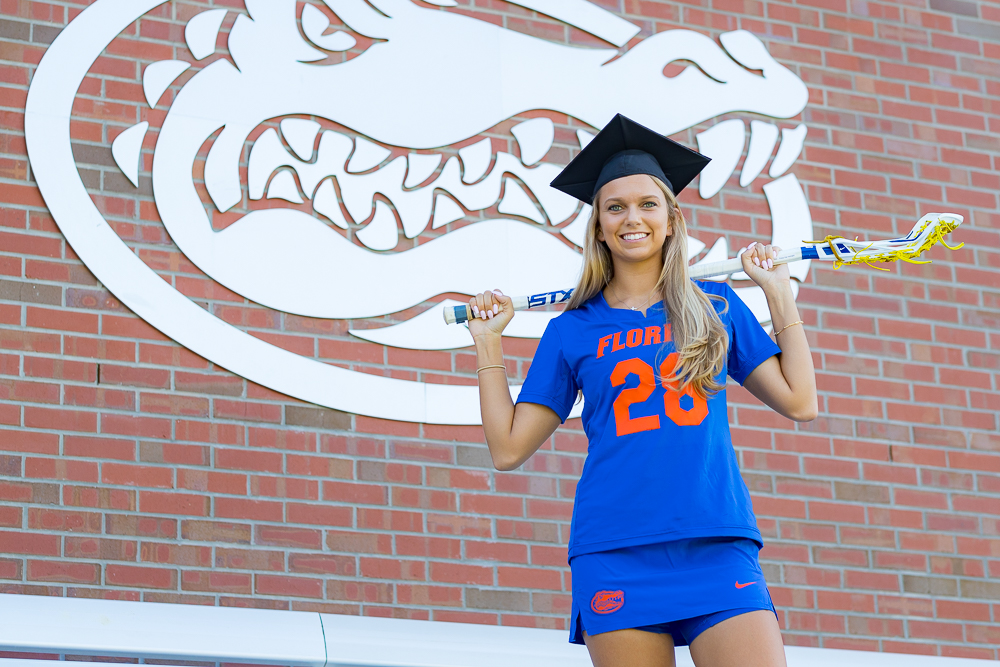 Grad photo session featuring Morgan Bracken on Tuesday, August 7, 2018 at Ben Hill Griffin Stadium in Gainesville, FL / Photo by Matt Pendleton for Matt Pendleton Photography.
