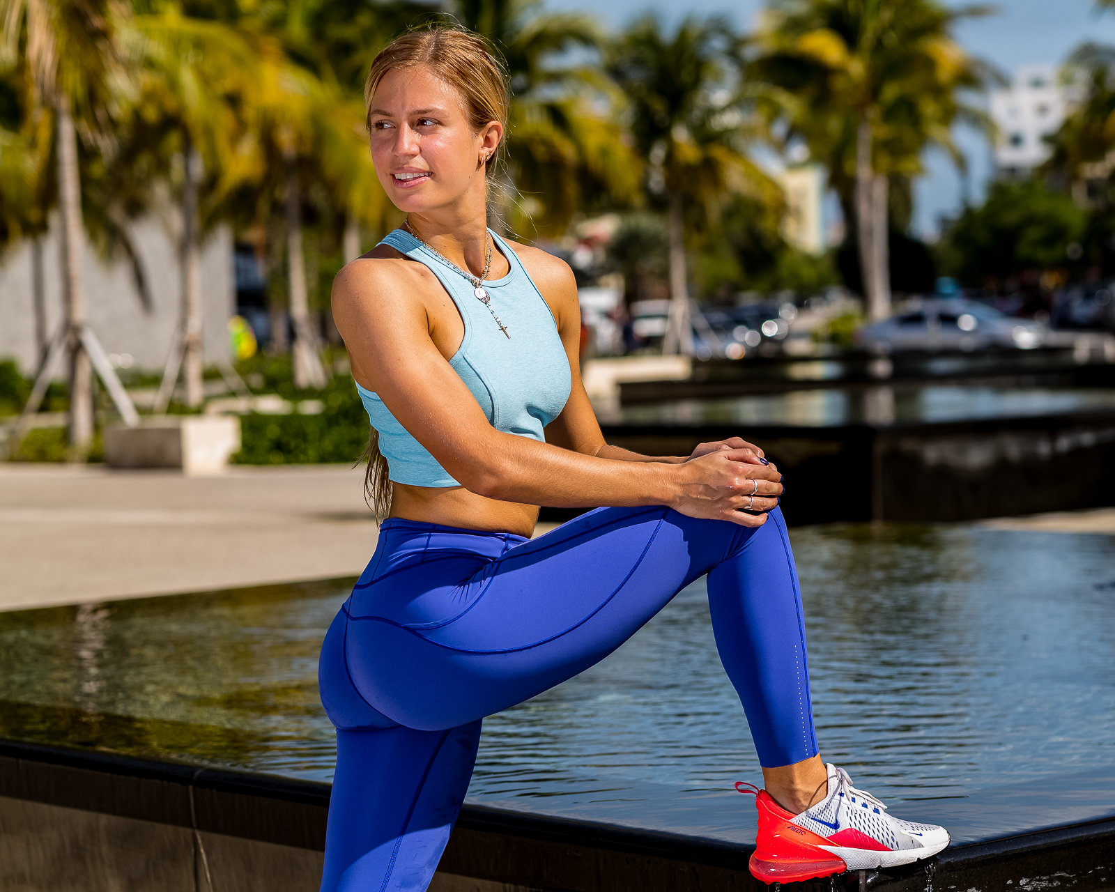 Fitness and lifestyle photo session with Aggie Buedo on Tuesday, March 12, 2019 at the South Pointe Park in Miami Beach, FL.