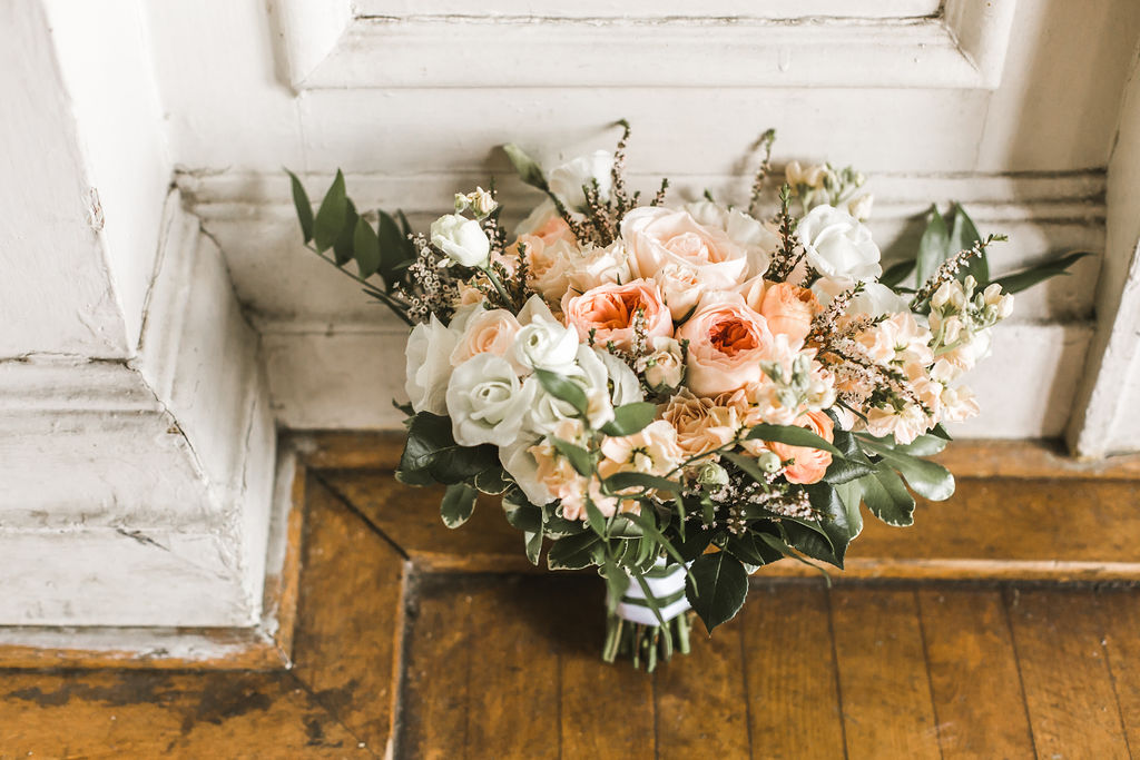 Every single detail of the day was gorgeous and so well thought out! How beautiful are these white and blush roses?