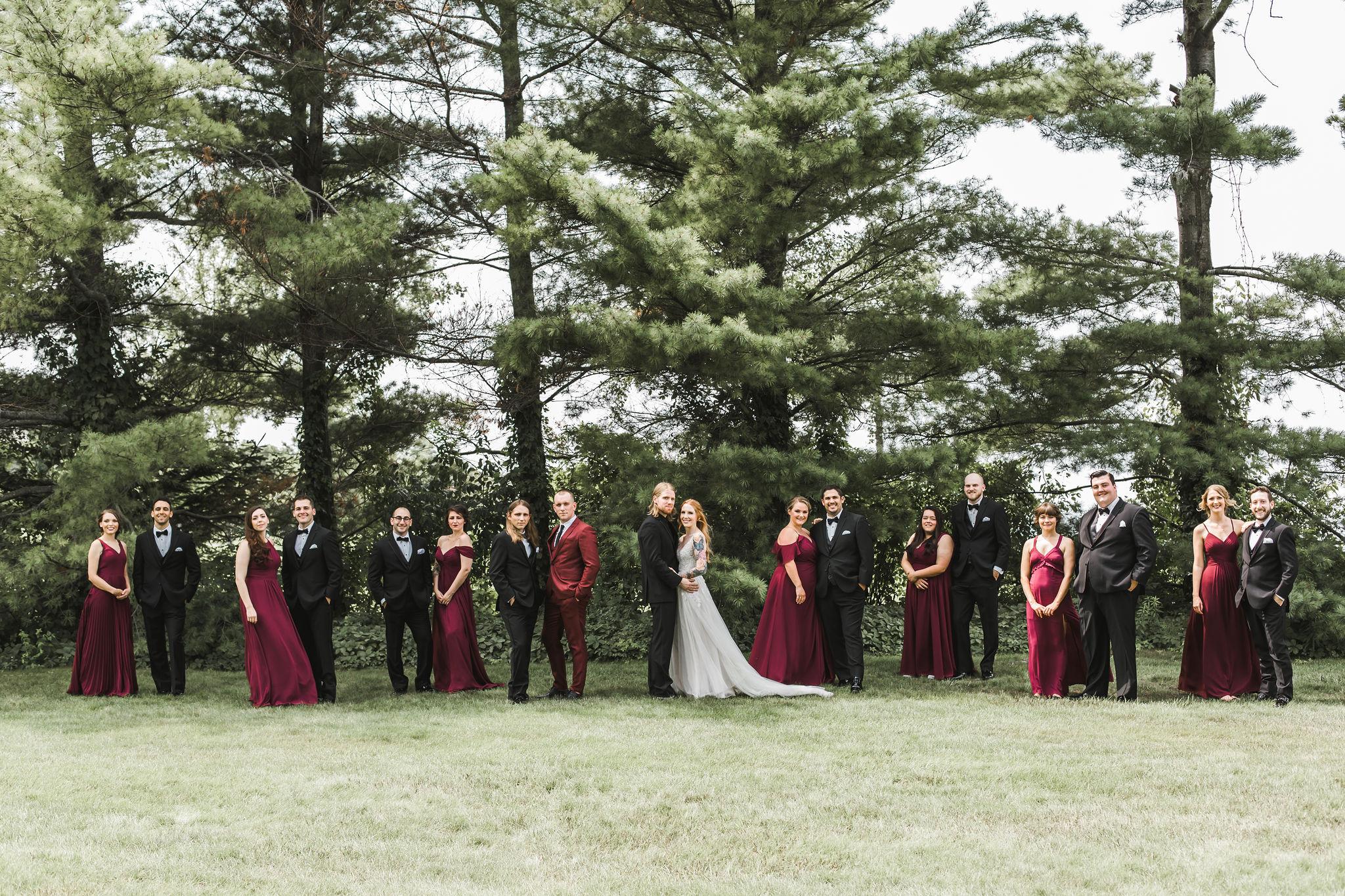 Wine wedding party