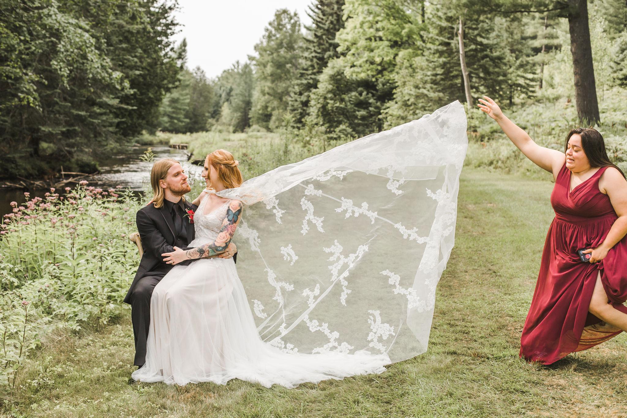 Lacey wedding cape dress