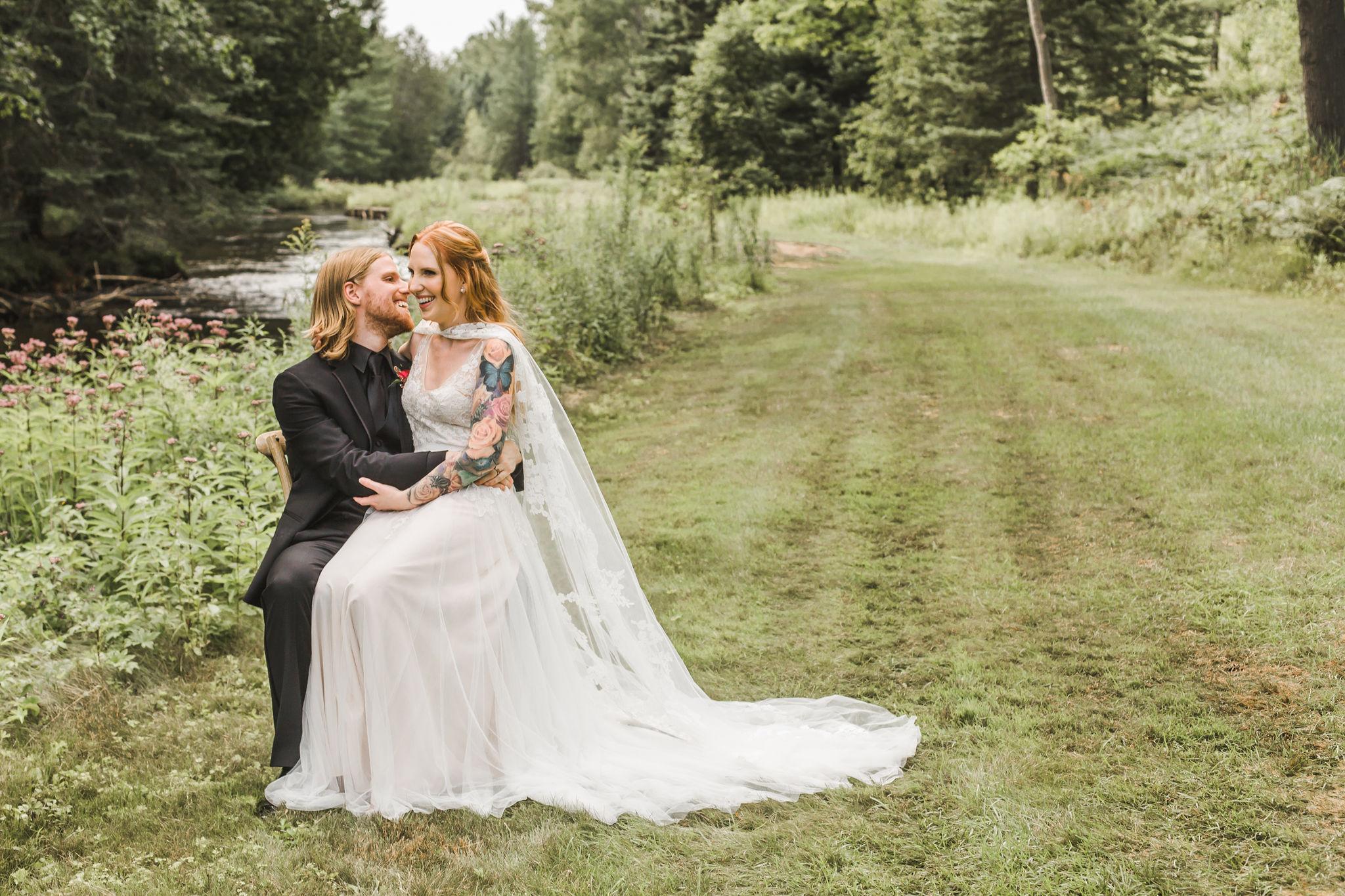 Lace wedding cape dress