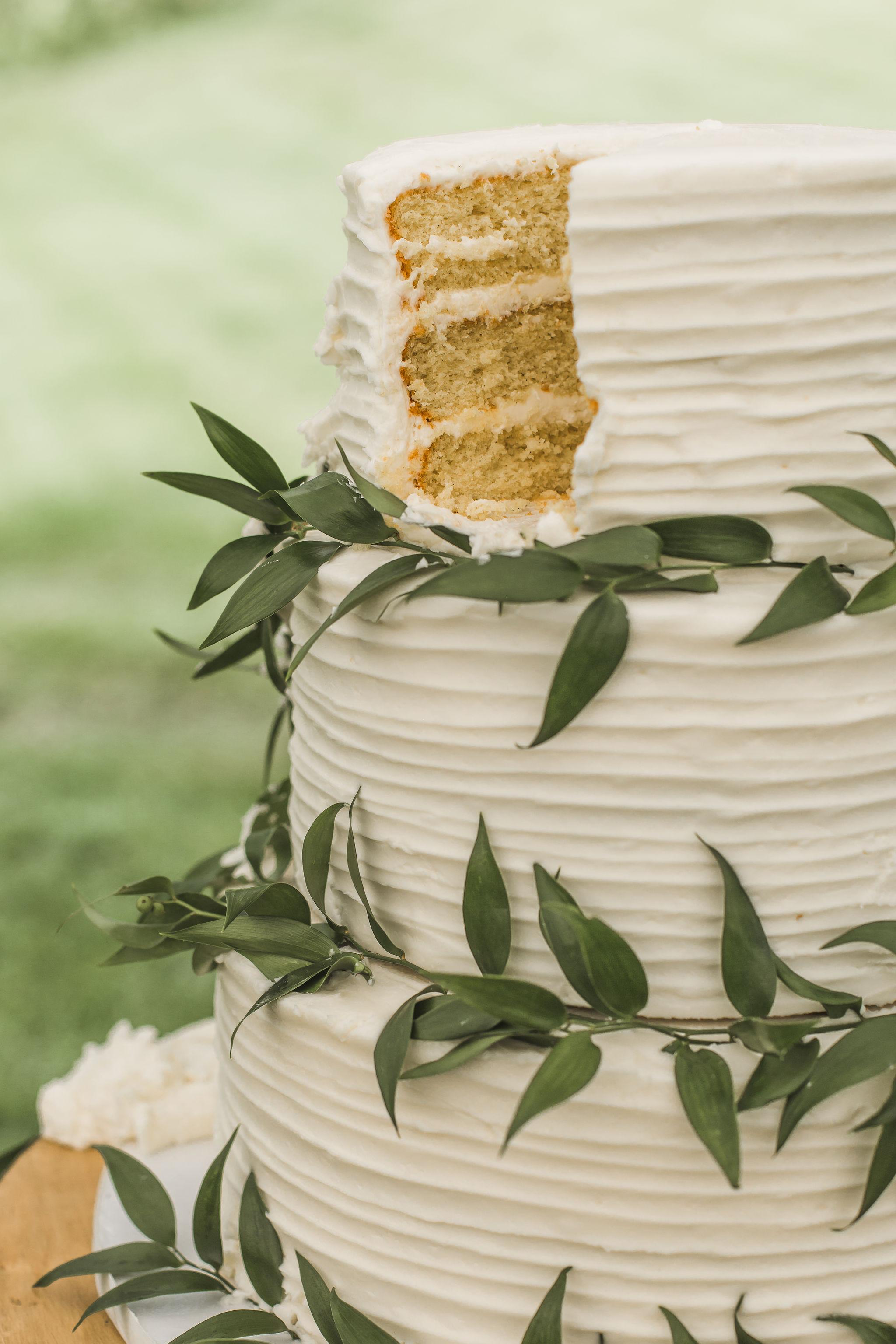 Eucalyptus wedding cake