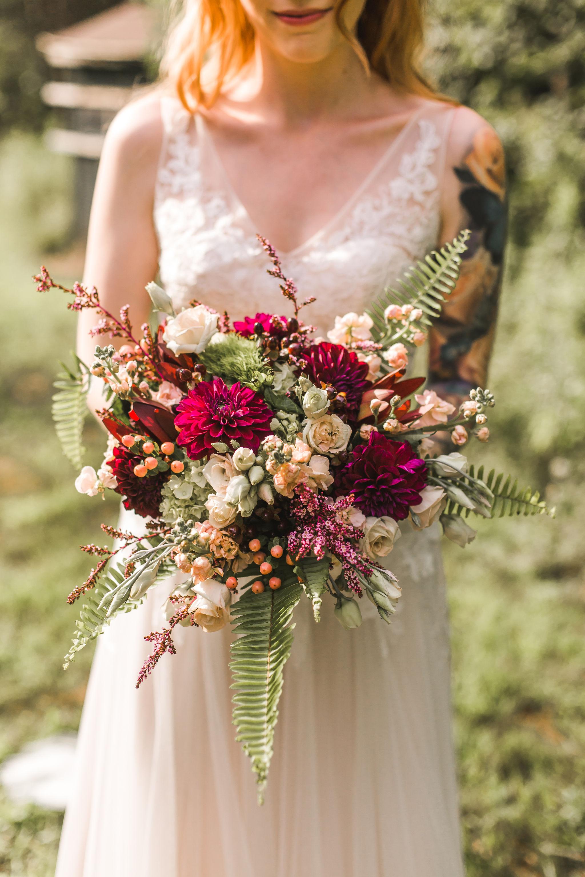 wine red bouquet
