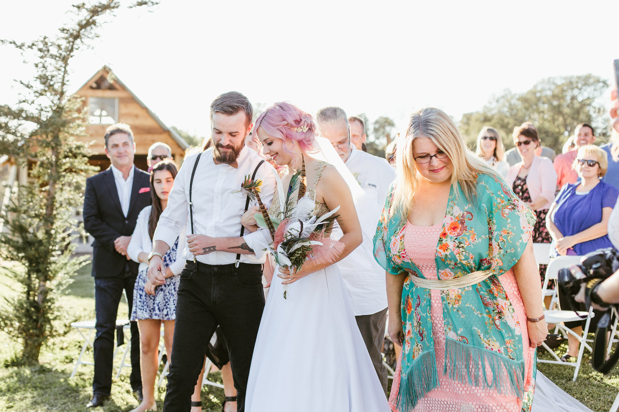 California barn wedding ceremony