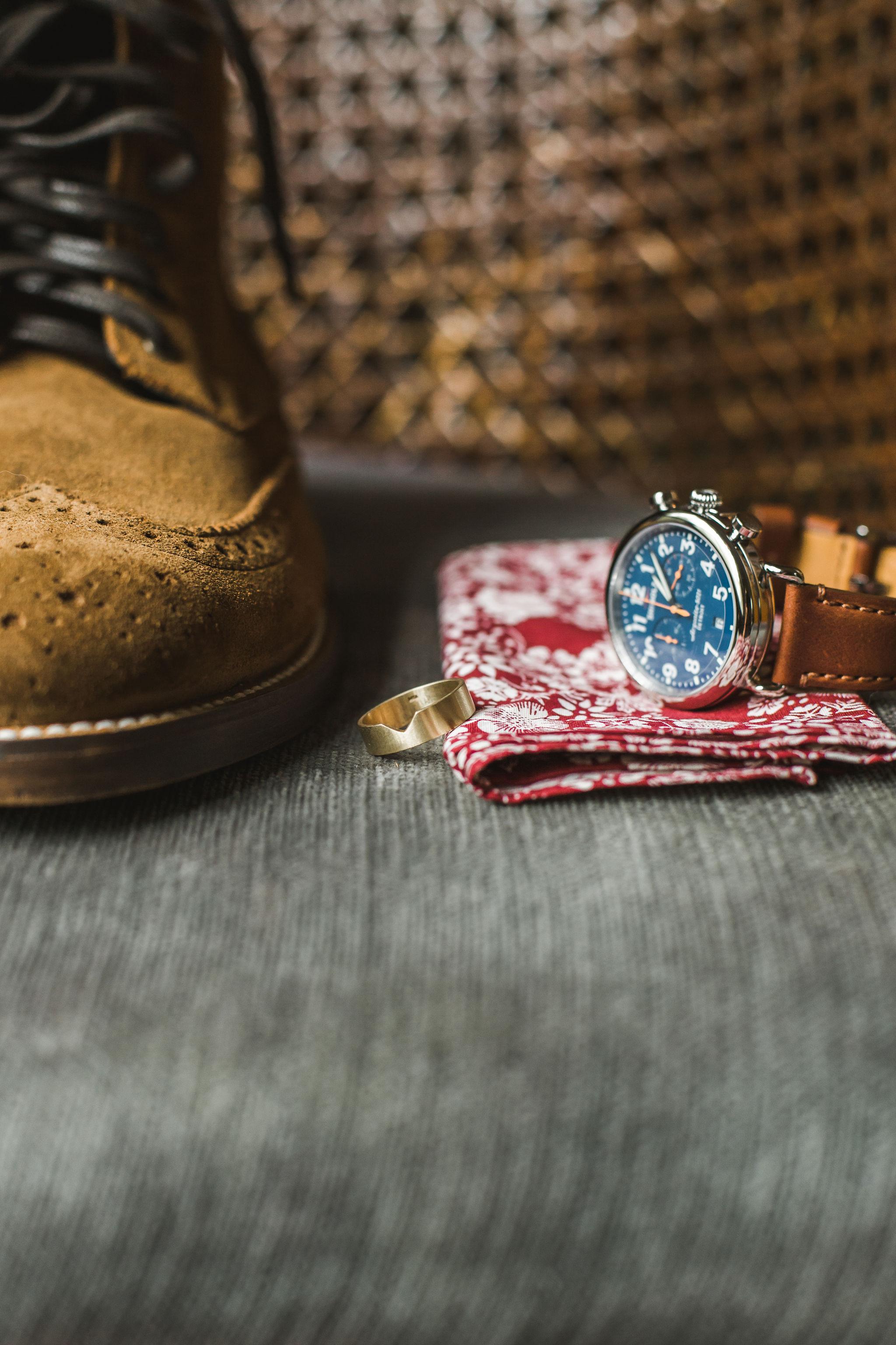 Shinola Watch Groom Wedding Details
