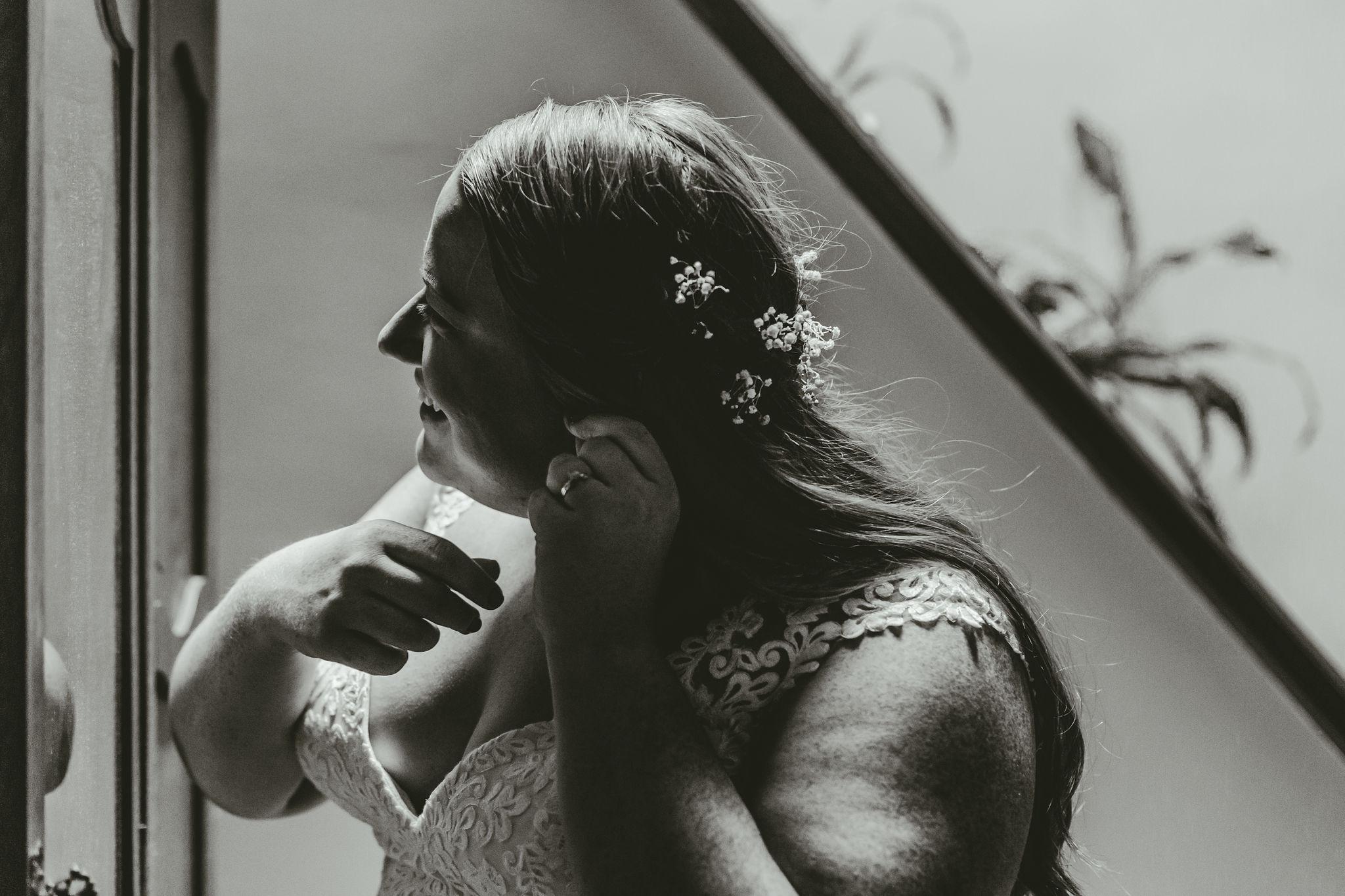 Delicate Lace Wedding Dress Burgundy