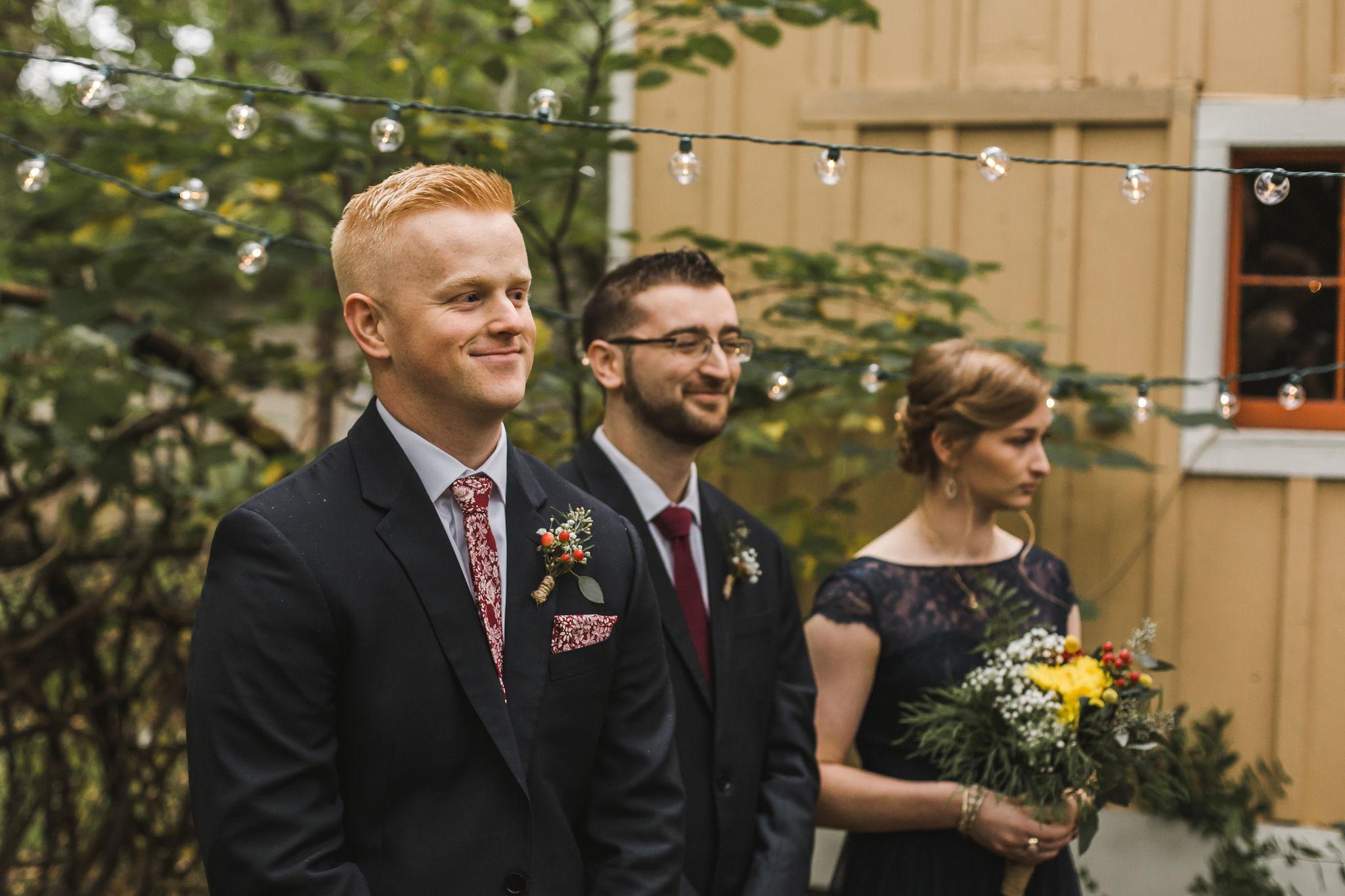 Burgundy Fall Wedding Details Groom