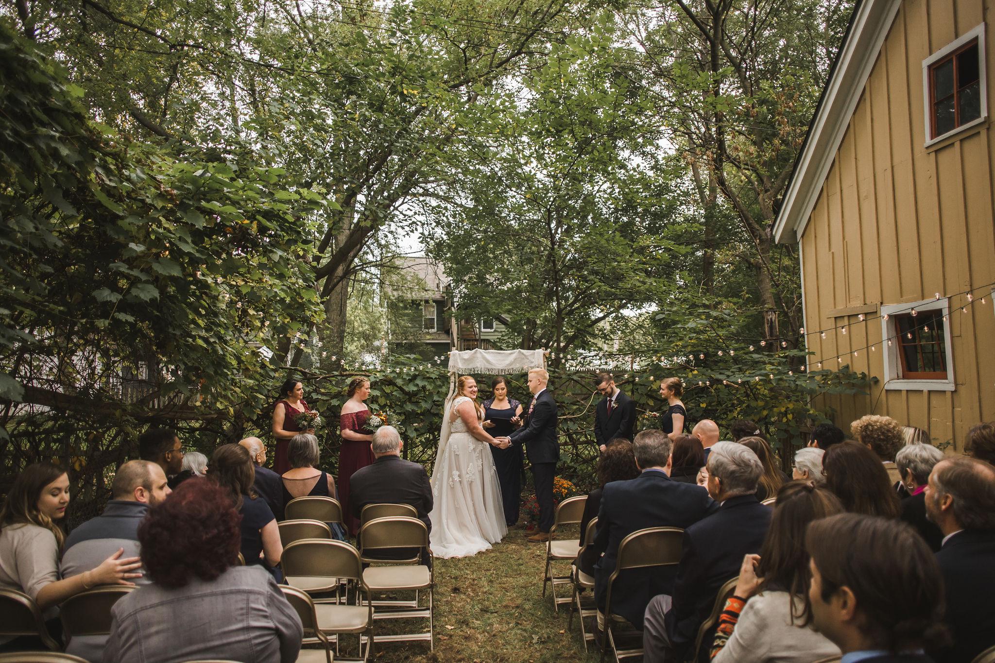 Michigan Backyard Wedding Ypsilanti
