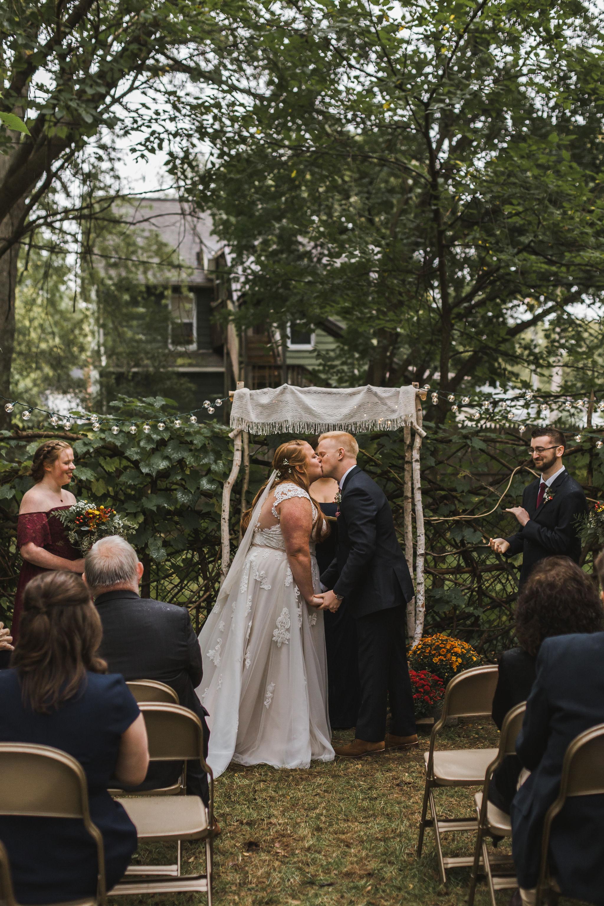 Michigan Fall Backyard Wedding Ypsilanti