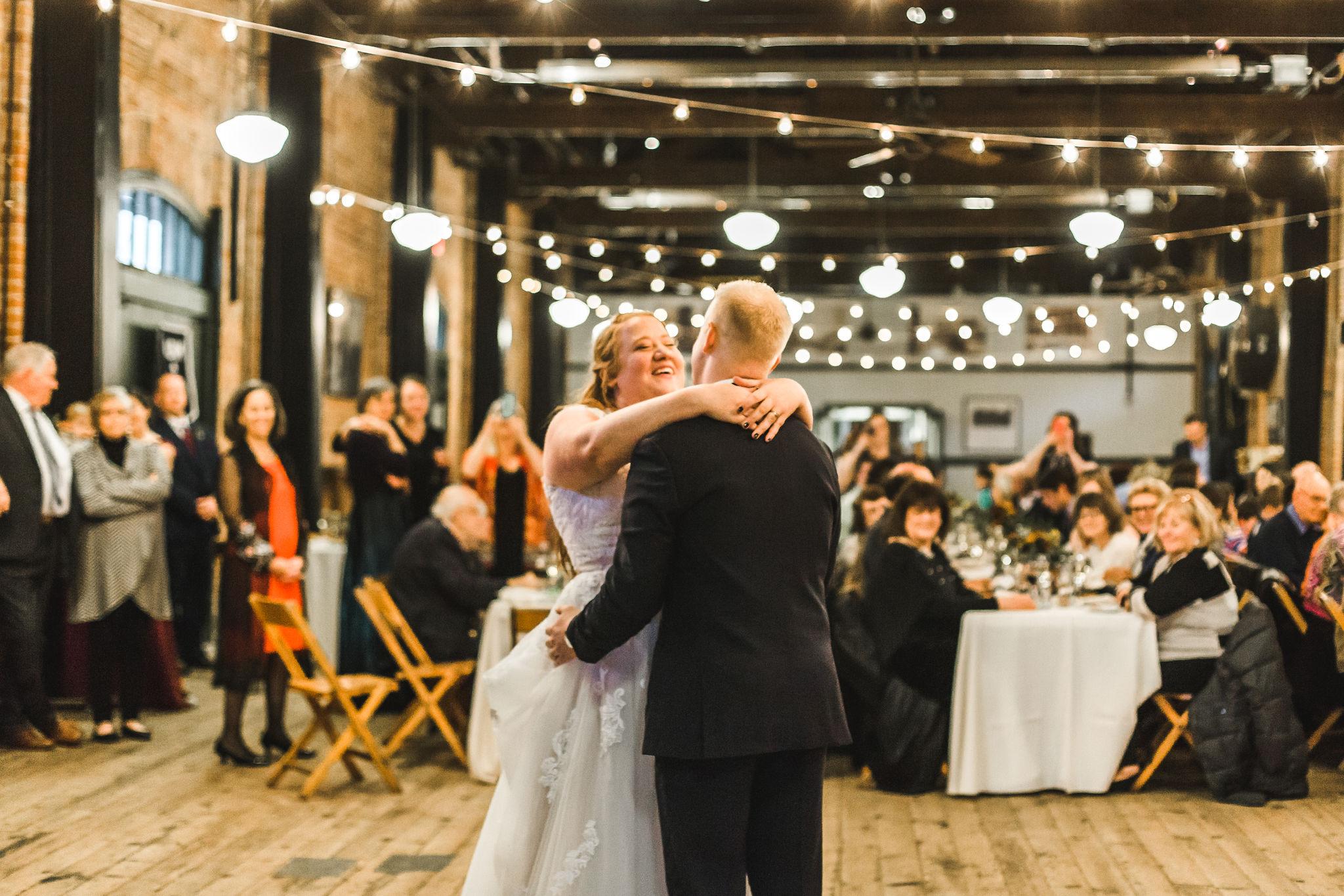 Fall Michigan Wedding Ypsilanti Freighthouse First Dance