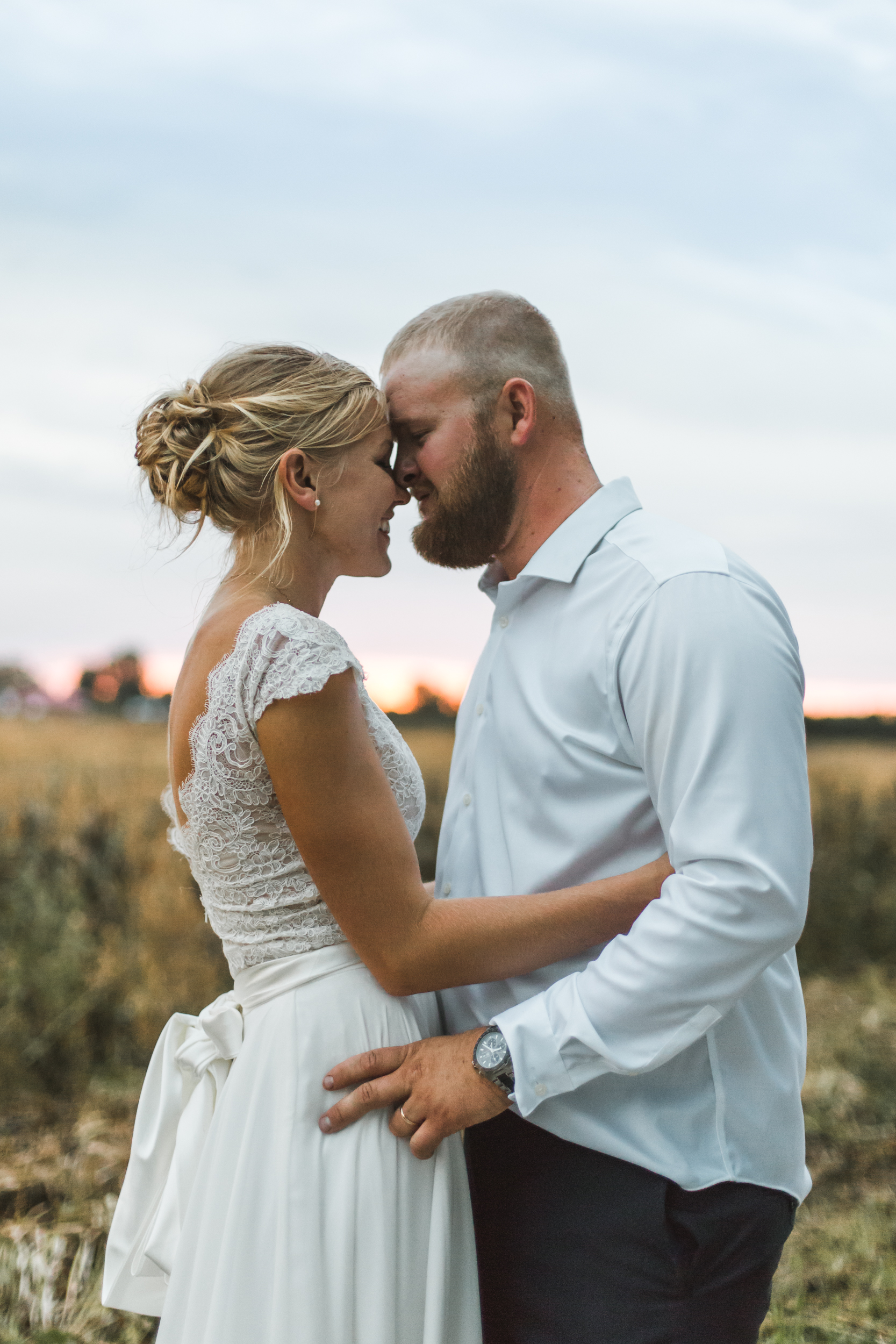 Powder blue wedding, Blue and gold wedding, Backyard Michigan Wedding, Michigan Wedding, Southeast Michigan Wedding, Michigan Wedding Photographer, Rustic Wedding, Simple Wedding, sunset photos
