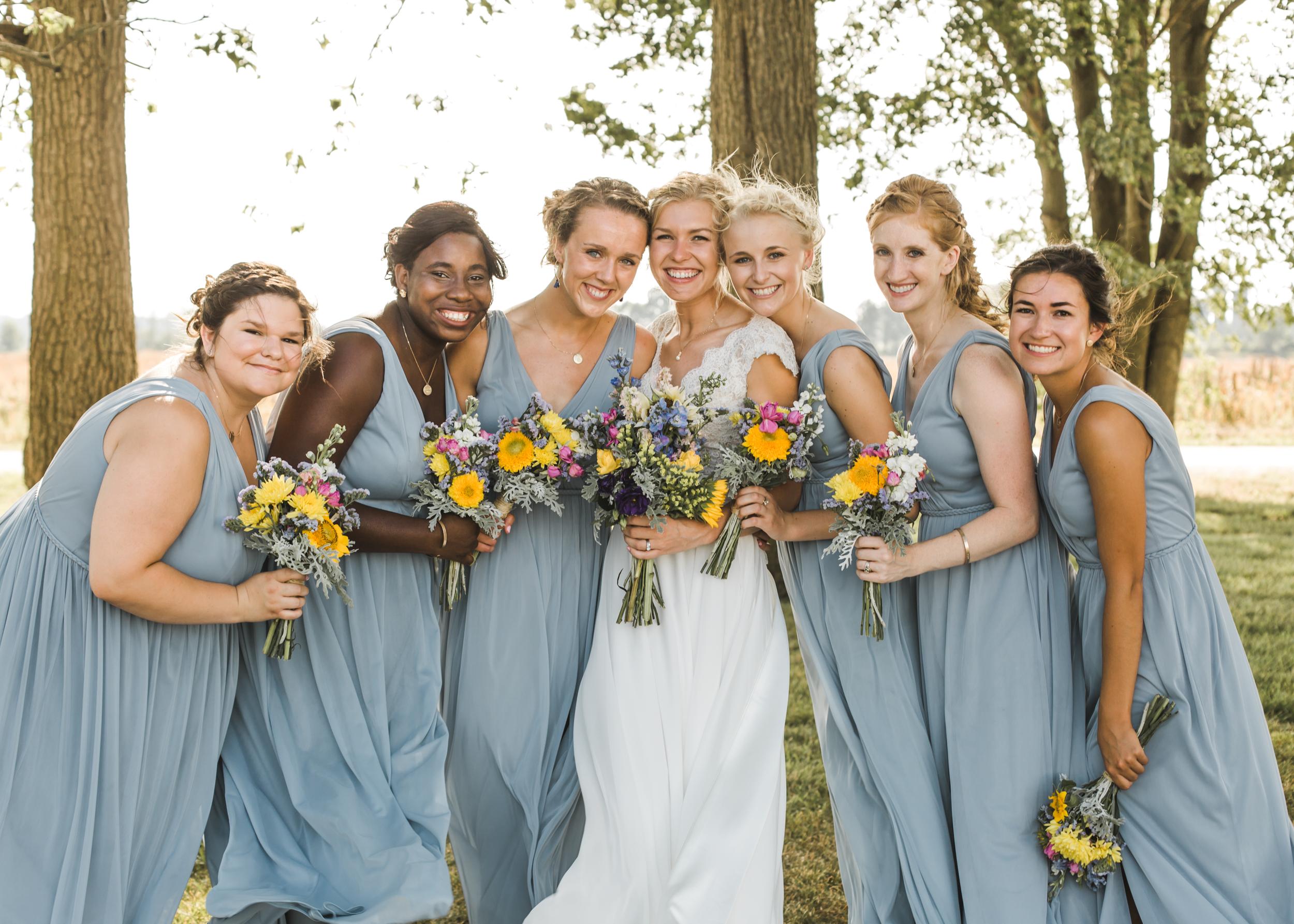 Powder blue wedding, Powder blue bridesmaids, Blue and gold wedding, Backyard Michigan Wedding, Michigan Wedding, Southeast Michigan Wedding, Michigan Wedding Photographer, Rustic Wedding, Simple Wedding