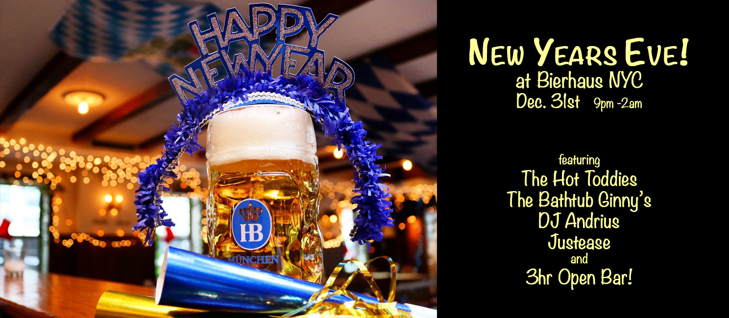 New Years Eve at Bierhaus NYC! (Dec 31, 2018)
