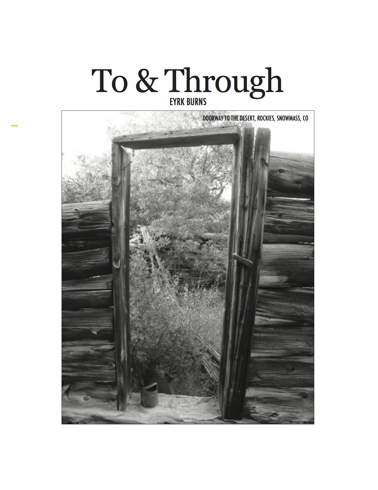 Artis 1 To & Through cover.jpg
