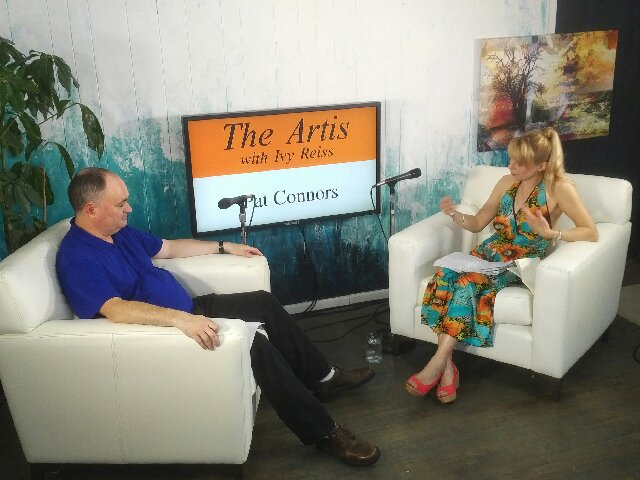Meet The Artis Team - Ivy Reiss, pictured with Guest Pat Connors at ThatChannel studios hosting The Artis with Ivy Reiss interview series.Photo by Frank Veri
