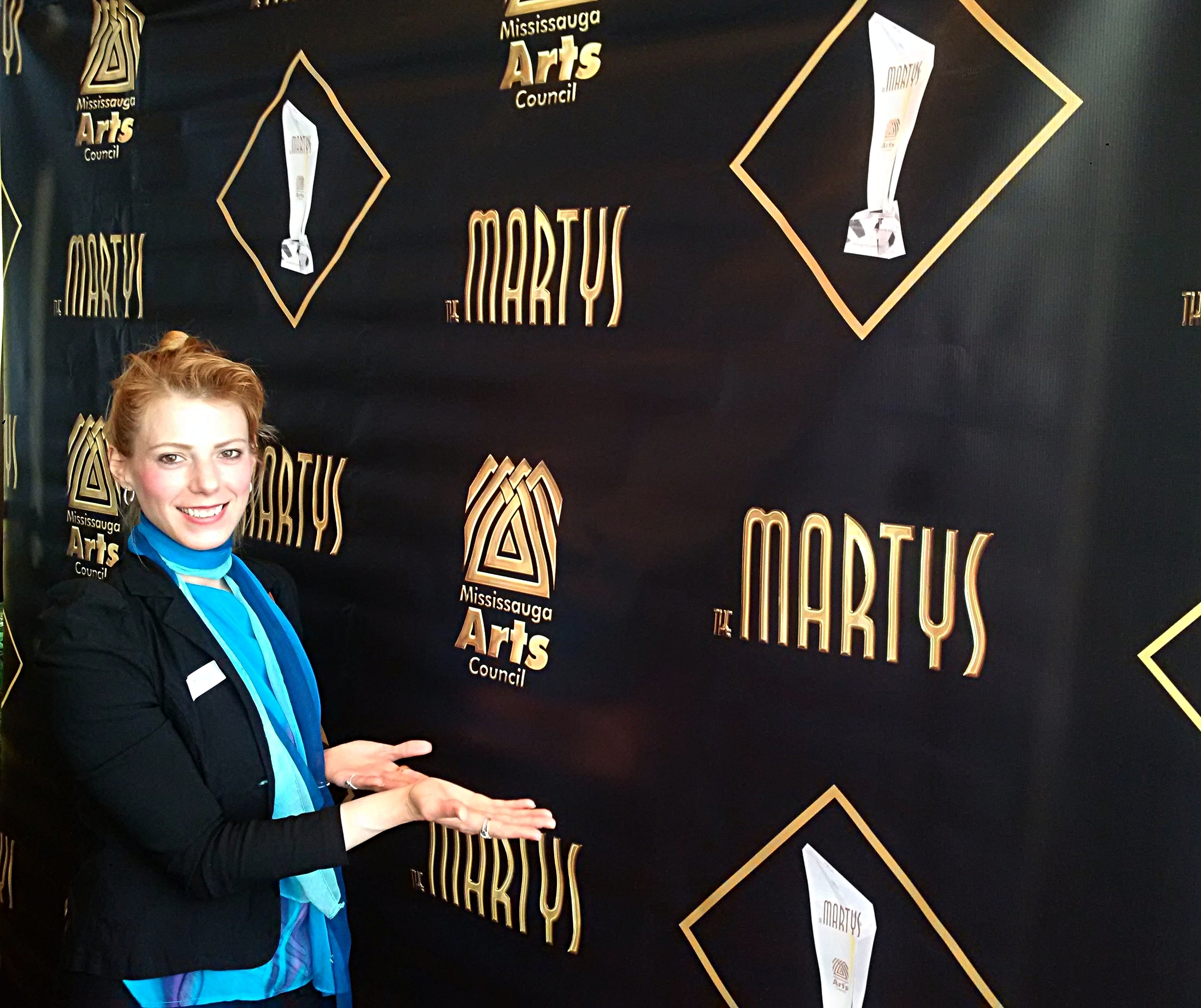 Loving the backdrop at the MARTY pre-party for Finalists!