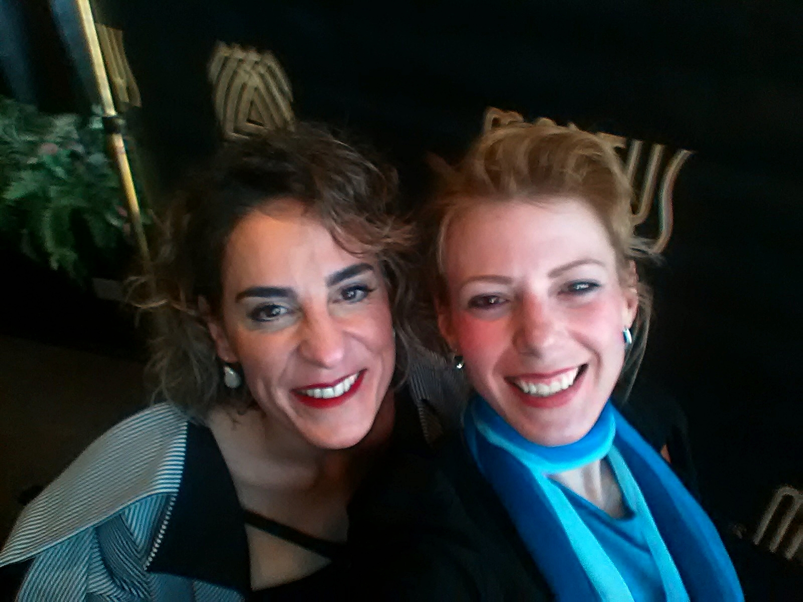 "Fellow Finalist in the ""Creative Design—Emerging"" category,  Maya Charbin and I have a selfie moment!"