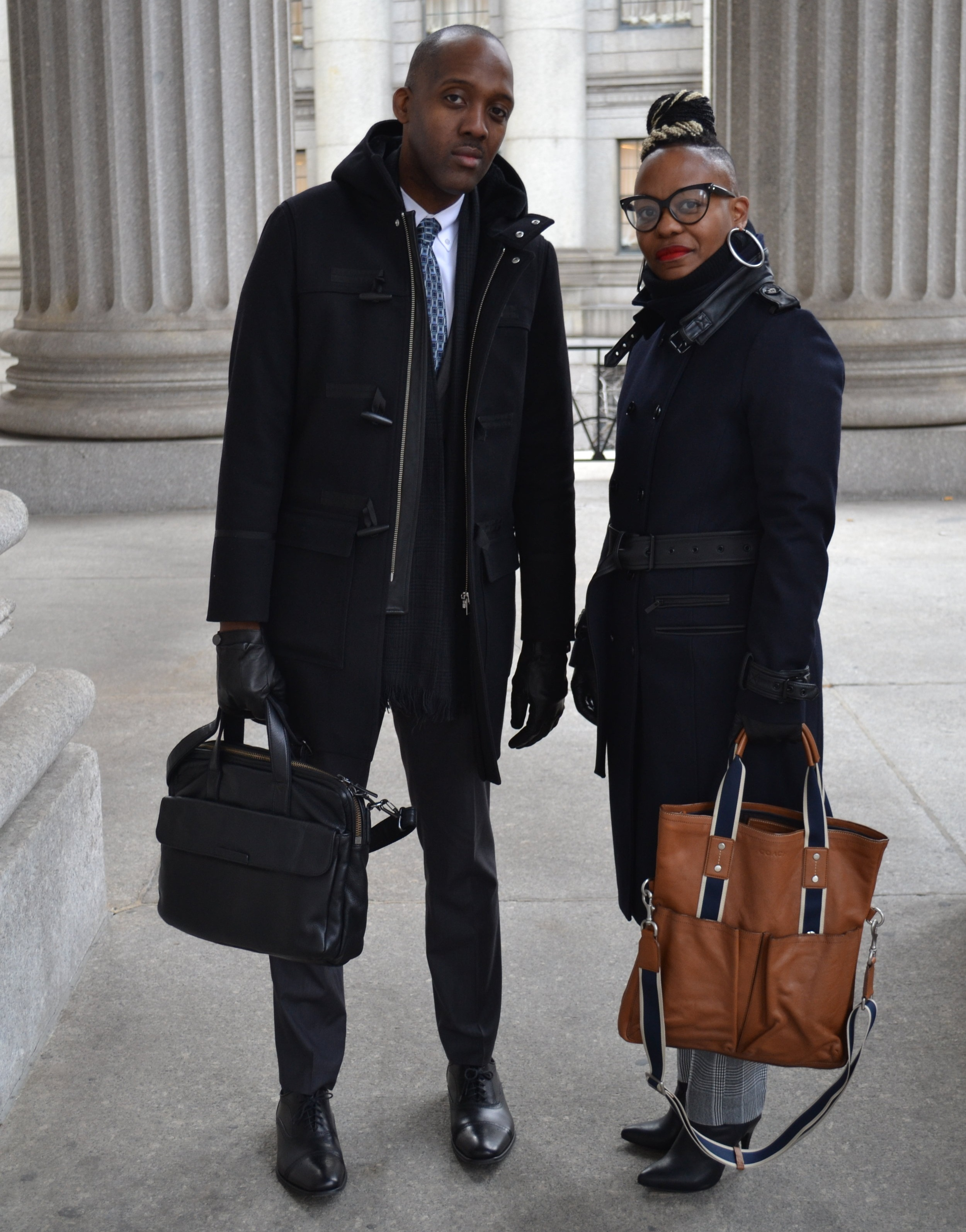 The AFJ Legal Support Unit lead attorneys. From left to right, Kwesi Dash and Tajuana Johnson.